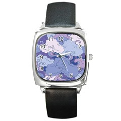 Abstract Nature 3 Square Metal Watch