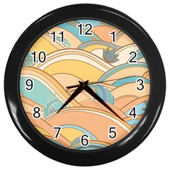 Abstract Nature 5 Wall Clocks (black) by tarastyle
