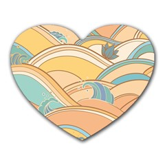 Abstract Nature 5 Heart Mousepads