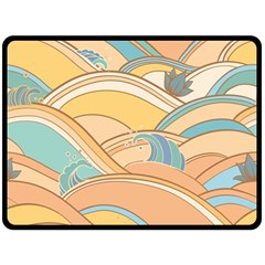 Abstract Nature 5 Fleece Blanket (large)  by tarastyle