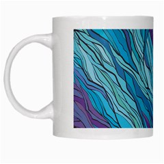 Abstract Nature 6 White Mugs