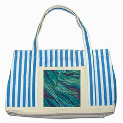 Abstract Nature 6 Striped Blue Tote Bag