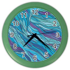 Abstract Nature 6 Color Wall Clocks by tarastyle