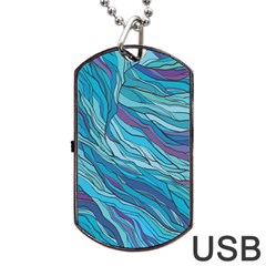 Abstract Nature 6 Dog Tag Usb Flash (two Sides)
