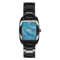 Abstract Nature 6 Stainless Steel Barrel Watch