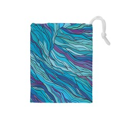 Abstract Nature 6 Drawstring Pouches (medium)  by tarastyle
