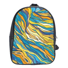 Abstract Nature 7 School Bag (xl)