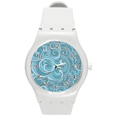 Abstract Nature 8 Round Plastic Sport Watch (m)