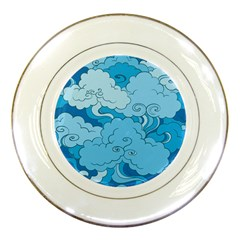 Abstract Nature 9 Porcelain Plates by tarastyle