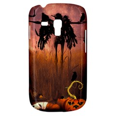 Halloween Design With Scarecrow, Crow And Pumpkin Galaxy S3 Mini by FantasyWorld7