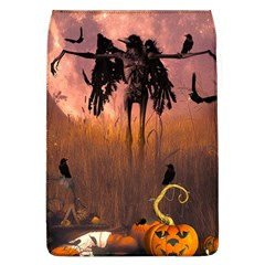 Halloween Design With Scarecrow, Crow And Pumpkin Flap Covers (l)  by FantasyWorld7