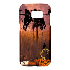 Halloween Design With Scarecrow, Crow And Pumpkin Samsung Galaxy S7 Hardshell Case  by FantasyWorld7