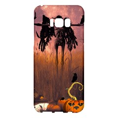 Halloween Design With Scarecrow, Crow And Pumpkin Samsung Galaxy S8 Plus Hardshell Case  by FantasyWorld7