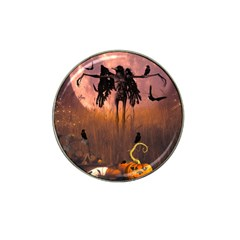 Halloween Design With Scarecrow, Crow And Pumpkin Hat Clip Ball Marker by FantasyWorld7