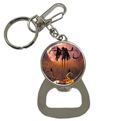 Halloween Design With Scarecrow, Crow And Pumpkin Bottle Opener Key Chains by FantasyWorld7