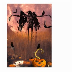 Halloween Design With Scarecrow, Crow And Pumpkin Large Garden Flag (two Sides) by FantasyWorld7