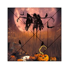Halloween Design With Scarecrow, Crow And Pumpkin Acrylic Tangram Puzzle (6  X 6 ) by FantasyWorld7
