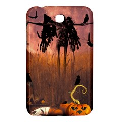 Halloween Design With Scarecrow, Crow And Pumpkin Samsung Galaxy Tab 3 (7 ) P3200 Hardshell Case  by FantasyWorld7