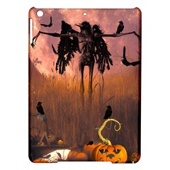 Halloween Design With Scarecrow, Crow And Pumpkin Ipad Air Hardshell Cases by FantasyWorld7