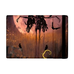 Halloween Design With Scarecrow, Crow And Pumpkin Ipad Mini 2 Flip Cases by FantasyWorld7
