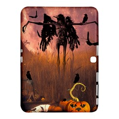 Halloween Design With Scarecrow, Crow And Pumpkin Samsung Galaxy Tab 4 (10 1 ) Hardshell Case  by FantasyWorld7