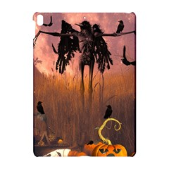 Halloween Design With Scarecrow, Crow And Pumpkin Apple Ipad Pro 10 5   Hardshell Case