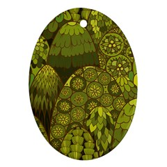 Abstract Nature 11 Oval Ornament (two Sides) by tarastyle