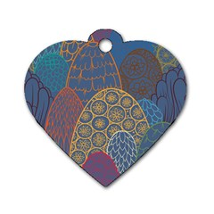 Abstract Nature 13 Dog Tag Heart (two Sides) by tarastyle