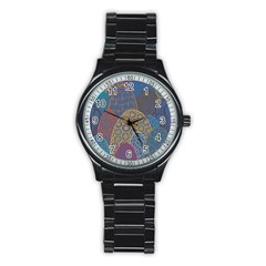 Abstract Nature 13 Stainless Steel Round Watch by tarastyle