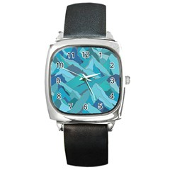 Abstract Nature 17 Square Metal Watch