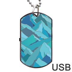 Abstract Nature 17 Dog Tag Usb Flash (two Sides) by tarastyle