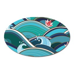 Abstract Nature 19 Oval Magnet by tarastyle