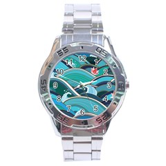 Abstract Nature 19 Stainless Steel Analogue Watch by tarastyle
