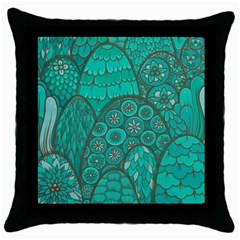 Abstract Nature 21 Throw Pillow Case (black) by tarastyle