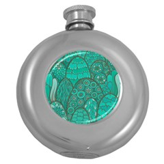 Abstract Nature 21 Round Hip Flask (5 Oz) by tarastyle