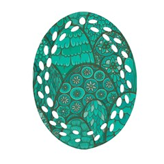 Abstract Nature 21 Oval Filigree Ornament (two Sides) by tarastyle
