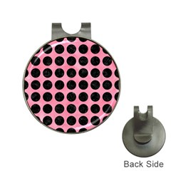 Circles1 Black Marble & Pink Watercolor Hat Clips With Golf Markers by trendistuff