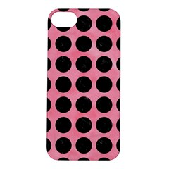 Circles1 Black Marble & Pink Watercolor Apple Iphone 5s/ Se Hardshell Case by trendistuff