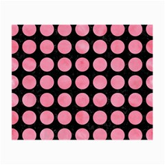 Circles1 Black Marble & Pink Watercolor (r) Small Glasses Cloth (2 Side) by trendistuff