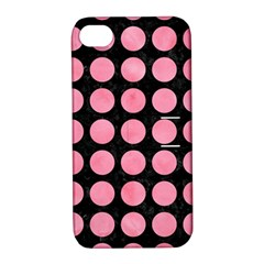 Circles1 Black Marble & Pink Watercolor (r) Apple Iphone 4/4s Hardshell Case With Stand by trendistuff