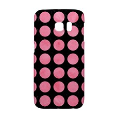 Circles1 Black Marble & Pink Watercolor (r) Galaxy S6 Edge by trendistuff