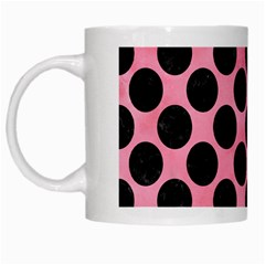 Circles2 Black Marble & Pink Watercolor White Mugs by trendistuff