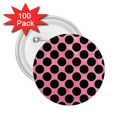 Circles2 Black Marble & Pink Watercolor 2 25  Buttons (100 Pack)