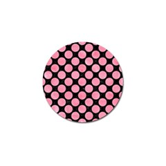Circles2 Black Marble & Pink Watercolor (r) Golf Ball Marker (4 Pack)