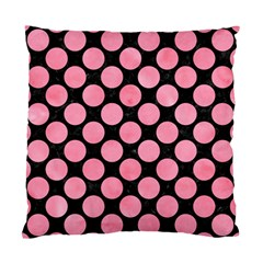 Circles2 Black Marble & Pink Watercolor (r) Standard Cushion Case (two Sides) by trendistuff