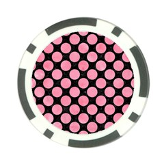 Circles2 Black Marble & Pink Watercolor (r) Poker Chip Card Guard (10 Pack) by trendistuff