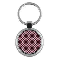Circles3 Black Marble & Pink Watercolor Key Chains (round)  by trendistuff