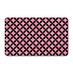 Circles3 Black Marble & Pink Watercolor Magnet (rectangular) by trendistuff