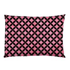 Circles3 Black Marble & Pink Watercolor Pillow Case by trendistuff