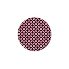 Circles3 Black Marble & Pink Watercolor (r) Golf Ball Marker (10 Pack) by trendistuff